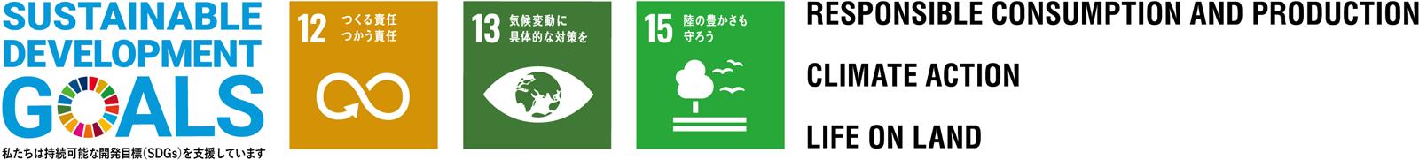 SDGs 12 13 15